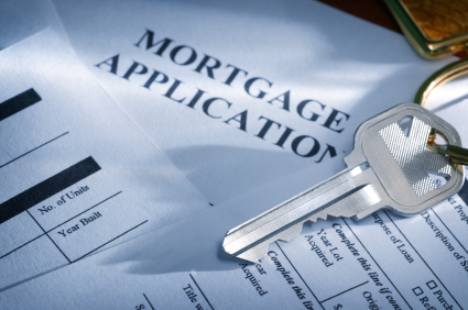 mortgage application and key