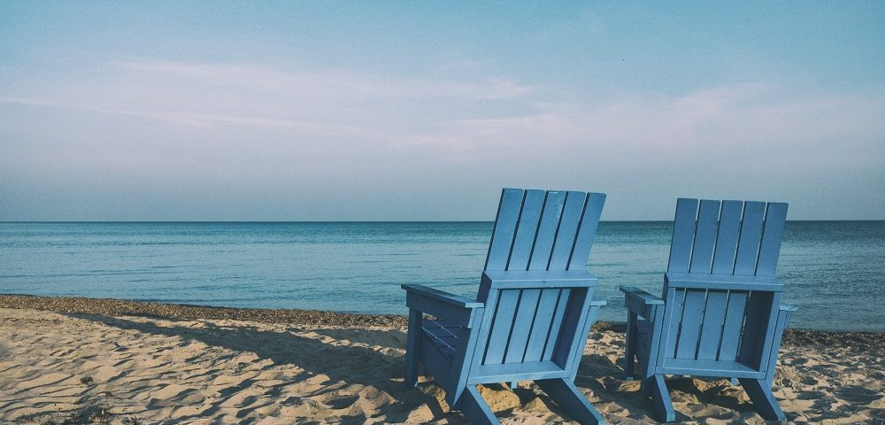 Recliners on the beach